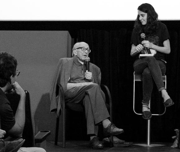 """Boris Pahor après la projection de Boris Pahor, portrait d'un homme libre"""" à l'Atlantida film fest de Palma de Majorque,  27 juin 2016"""